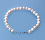 Sterling Silver Bracelet with 6.5-7mm Potato Shape Freshwater Pearl - Wing Wo Hing Jewelry Group - Pearl Jewelry Manufacturer