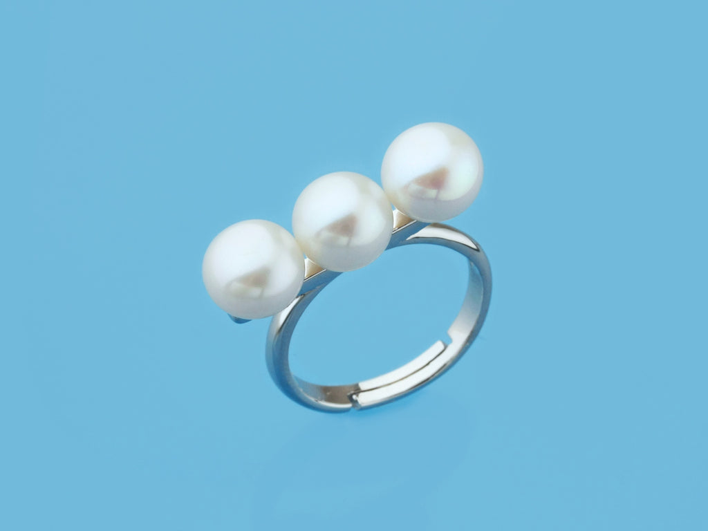 balanced freshwater cultured pearl ring silver 925 sterling