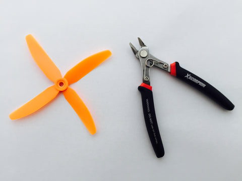 Quad Blade from HQ Prop at GETPROPSMAN.com and wire cutters