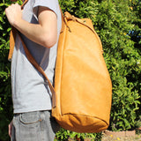 Leather U Bag Rugged Travel Satchel