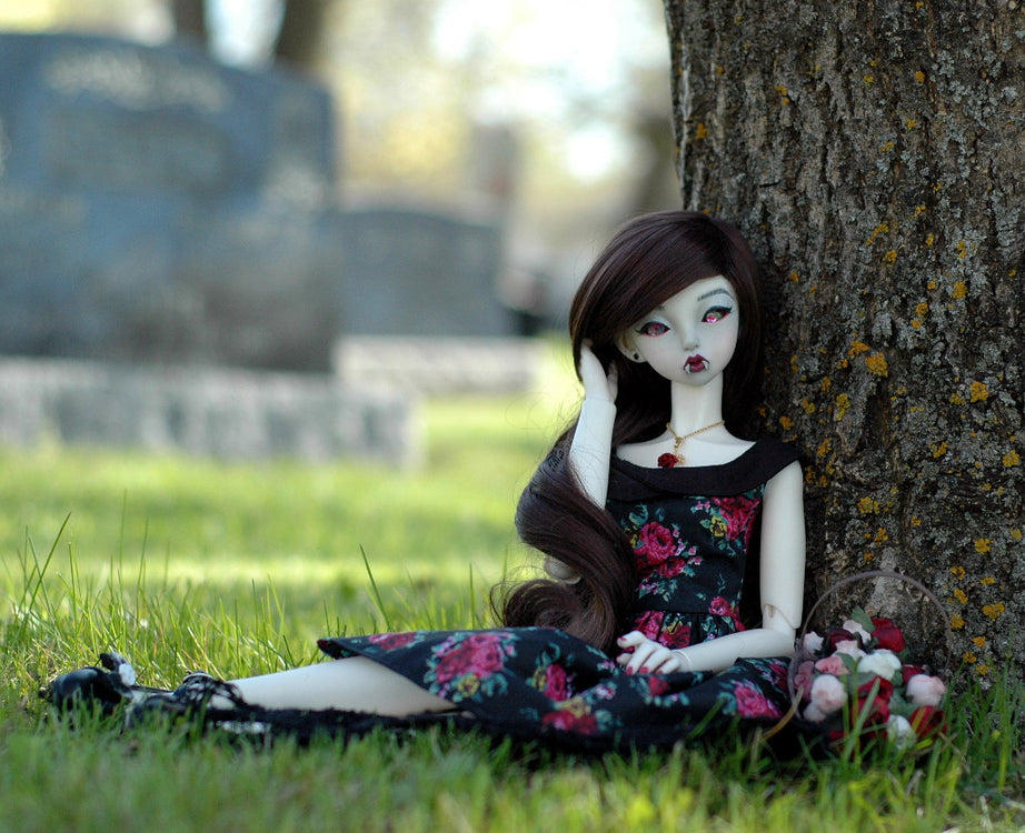 cemeteries are the best for bjd photo shoots