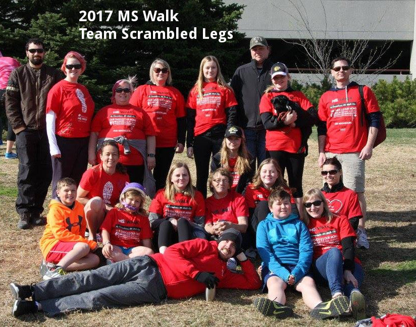 2017 MS Walk Completed with Team Scrambled Legs