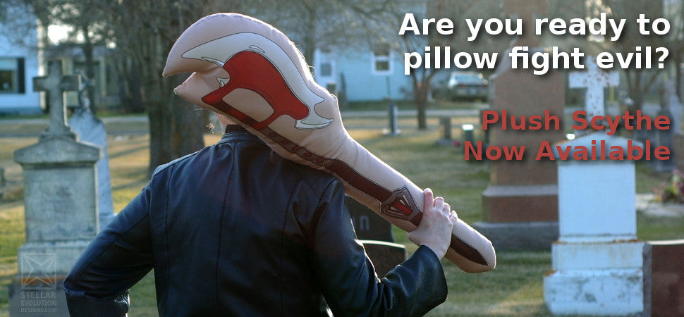 Are you ready to pillow fight evil-plush scythe now available-stellar evolution designs