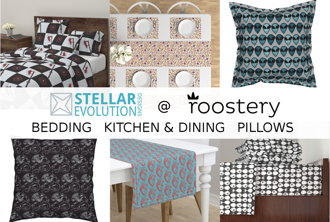 Stellar Evolution Designs at Roostery-bedding-kitchen-and-dining-pillows
