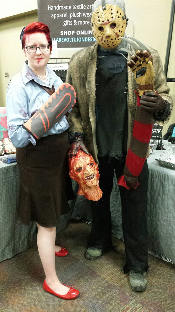 Horror Cosplay fun - Ash & Jason kill Freddy