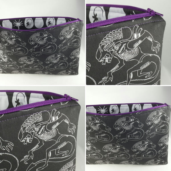 xenomorph aliens zipper pouch for ipads tablets ereaders by stellar evolution designs