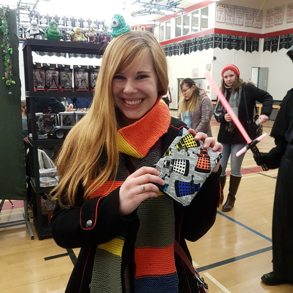 Whovian shoppers at Winkler Comic Con 2017 were in love with handmade geekery at Stellar Evolution Designs booth