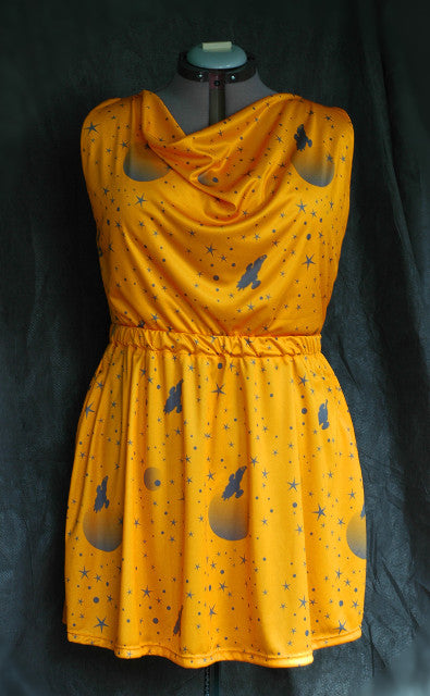 Serenity Starfield Dress - Yellow