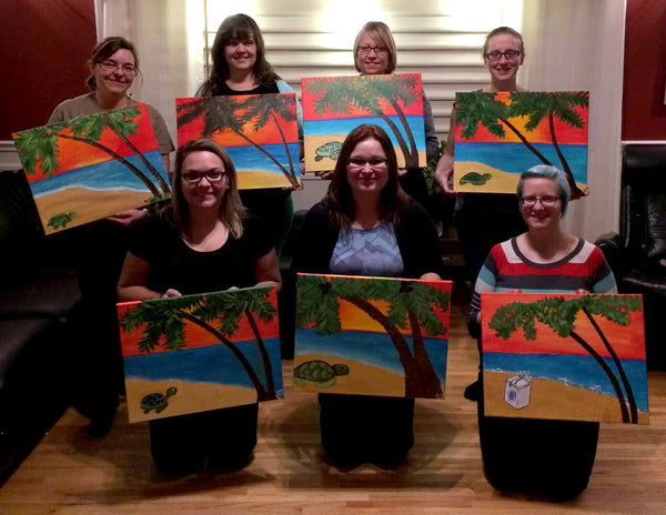 Willowcat Studios Paint Parties booking private paint nights in southern manitoba for groups