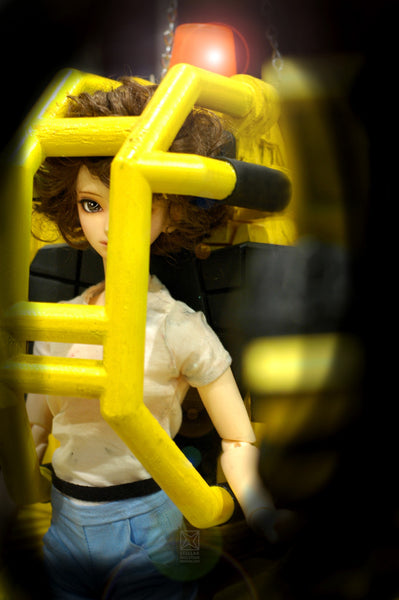 Ripley anime eye in power loader cosplay -stellar evolution designs
