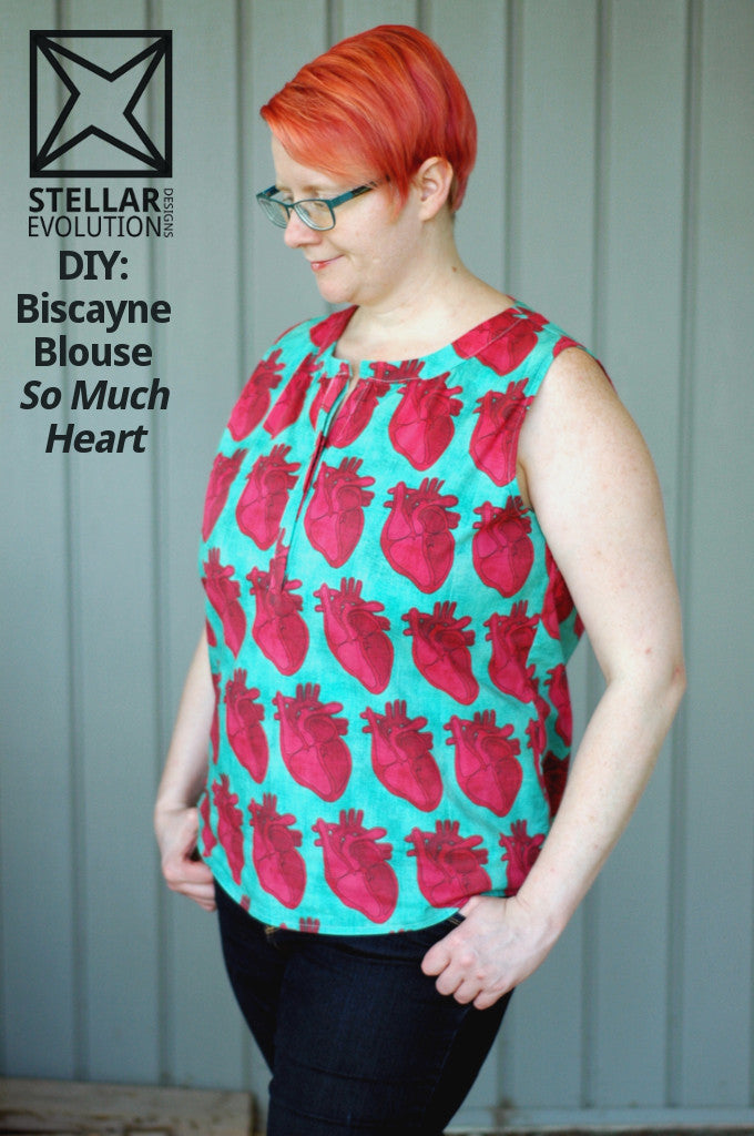 DIY: Biscayne Blouse, so much heart