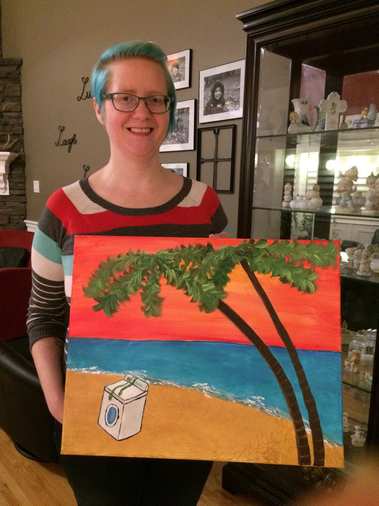 Brenda from Stellar Evolution Designs attends paint party by Willowcat Studios and geeks it up
