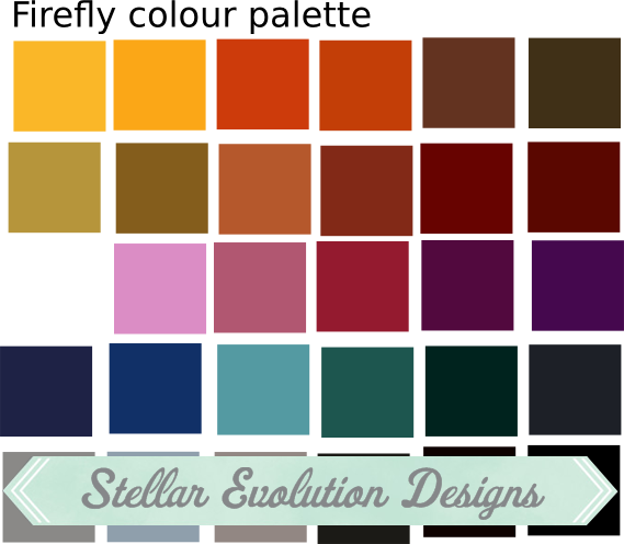 Firefly colour pallete -Stellar Evolution Designs
