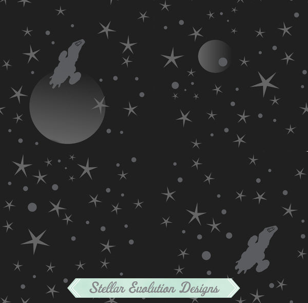 Black Serenity Starfield pattern