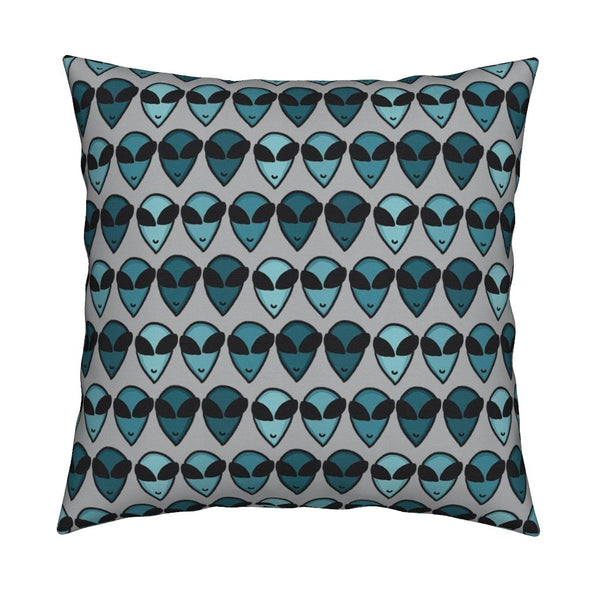 little green men pillow design by stellar evolution designs from roostery