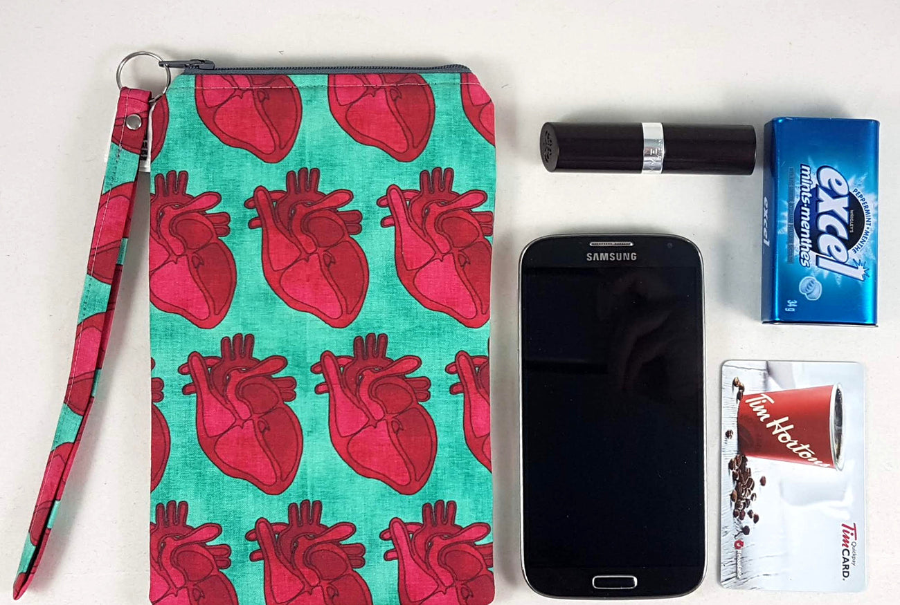smartphone wristlet in gory or geeky styles handmade just for you