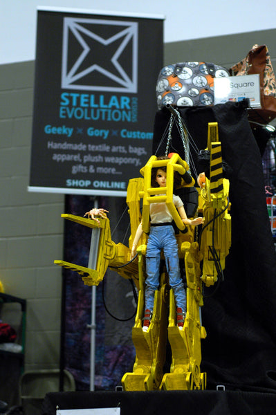 power loader out at aikon 2018 winnipeg, manitoba with Stellar Evolution designs