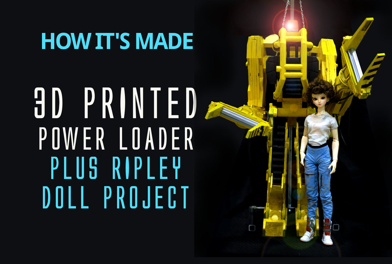 how its made-3d printed power loader and ripley doll