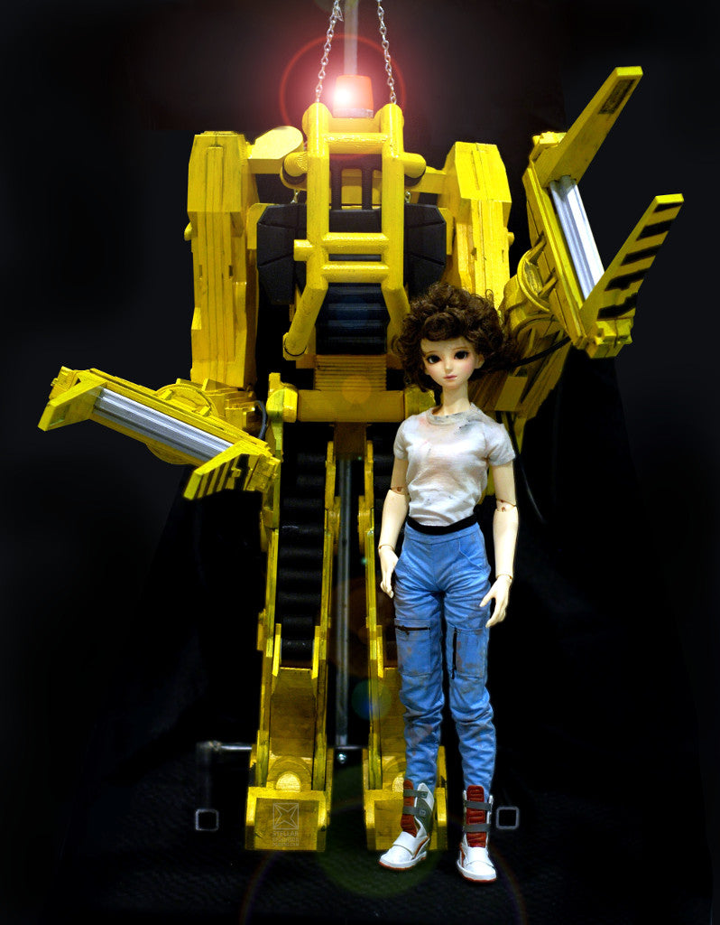 Ripley bjd and 3D printed power loader cosplay