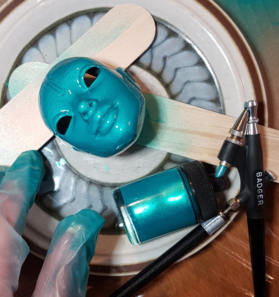 Painting 3D prints with airbrush
