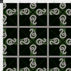 Harry Potter inspired fabrics Slytherin