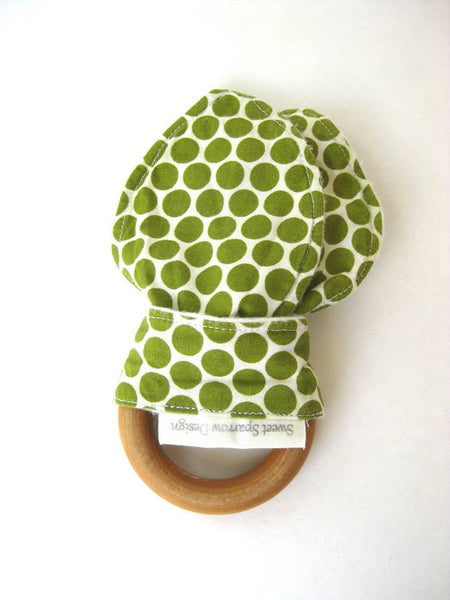 Teething ring by Sweet Sparrow Design