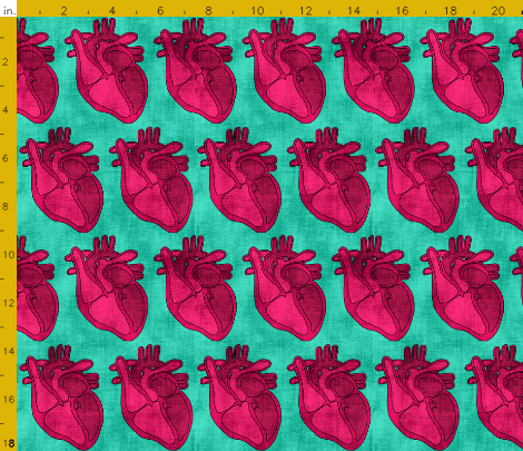 These open hearts by pond_ripple from spoonflower