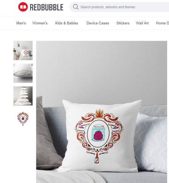 zombies love hot sauce on pillow from redbubble