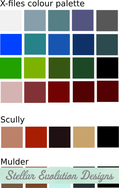 X-Files colour pallete - Stellar Evolution Designs