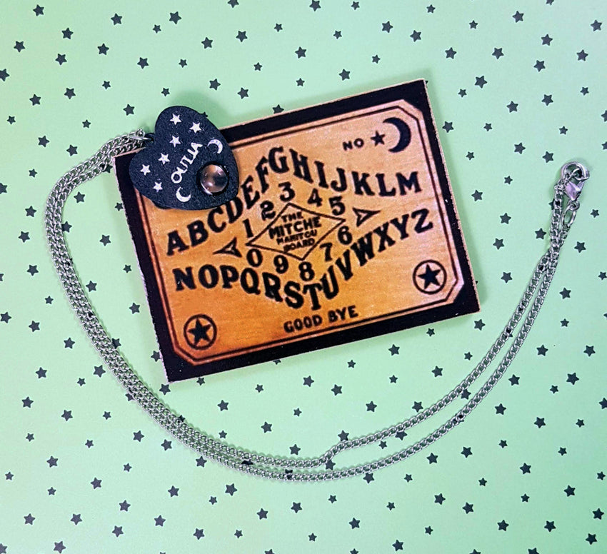 Mini Ouiji Planchette Necklace and Board Set - BJD Prop