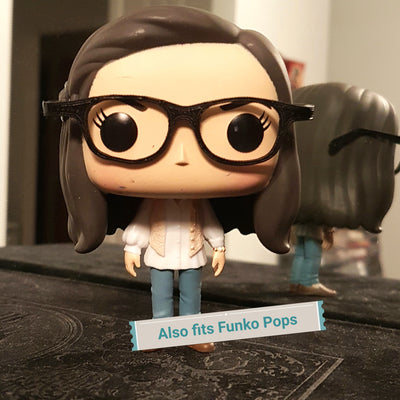 Geek Glasses for Pop Vinyl Customs- Black