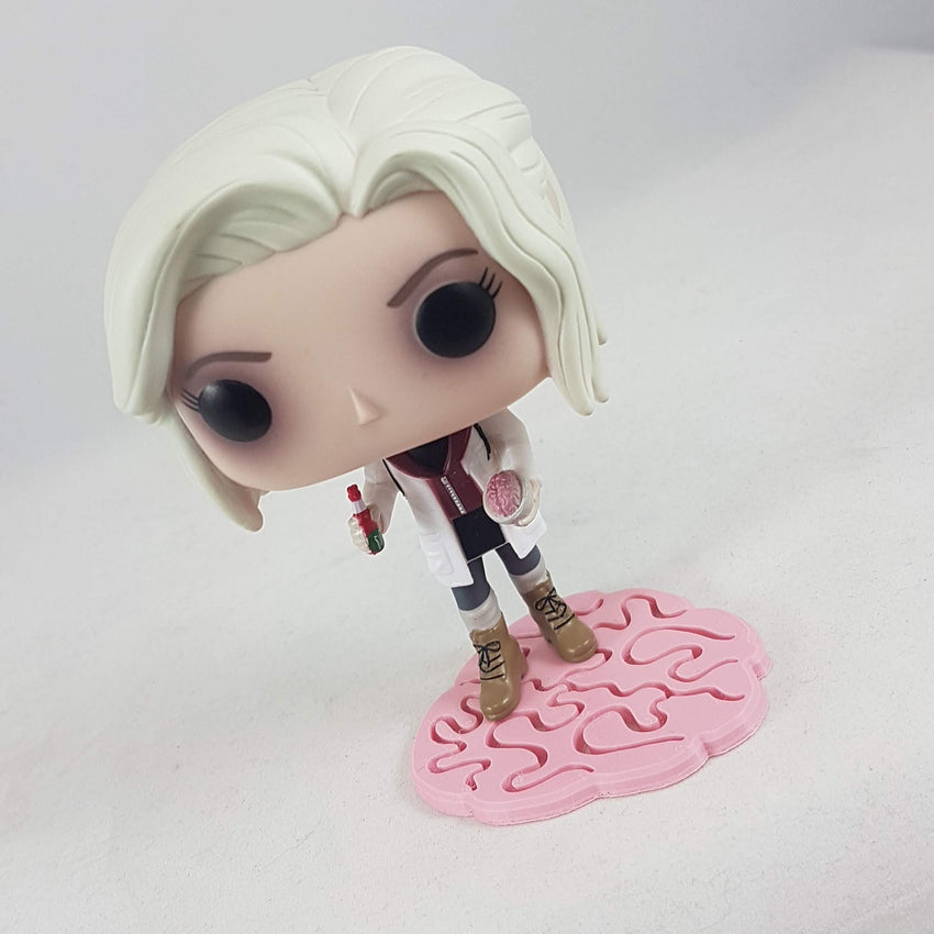 Liv Moore Pop on brain stand custom made by SED