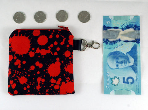 bloody coin purse - handmade gory accessories-great gifts