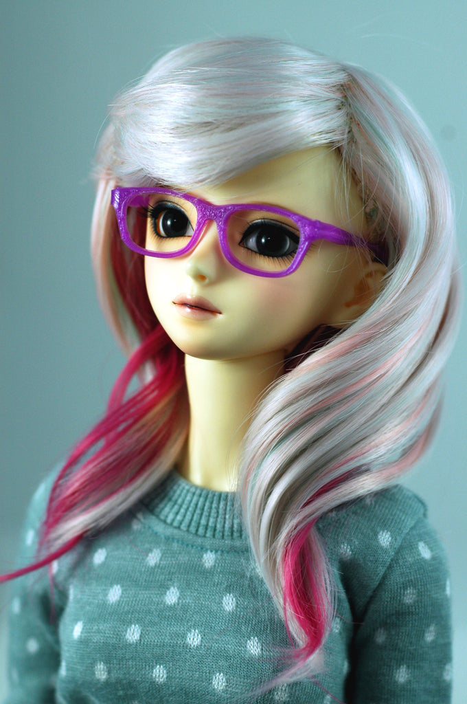 BJD SD Geek Glasses - Purple