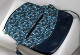 Handmade Whovian Purse with Blue Box and Doctors inside-rose zipper pull expanded