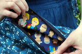 Handmade Whovian Purse Doctors inside close up