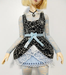 Lolita Dress & Body Suit set - for Curvy 1:3 SD Resin Vinyl BJD - Spider Alice