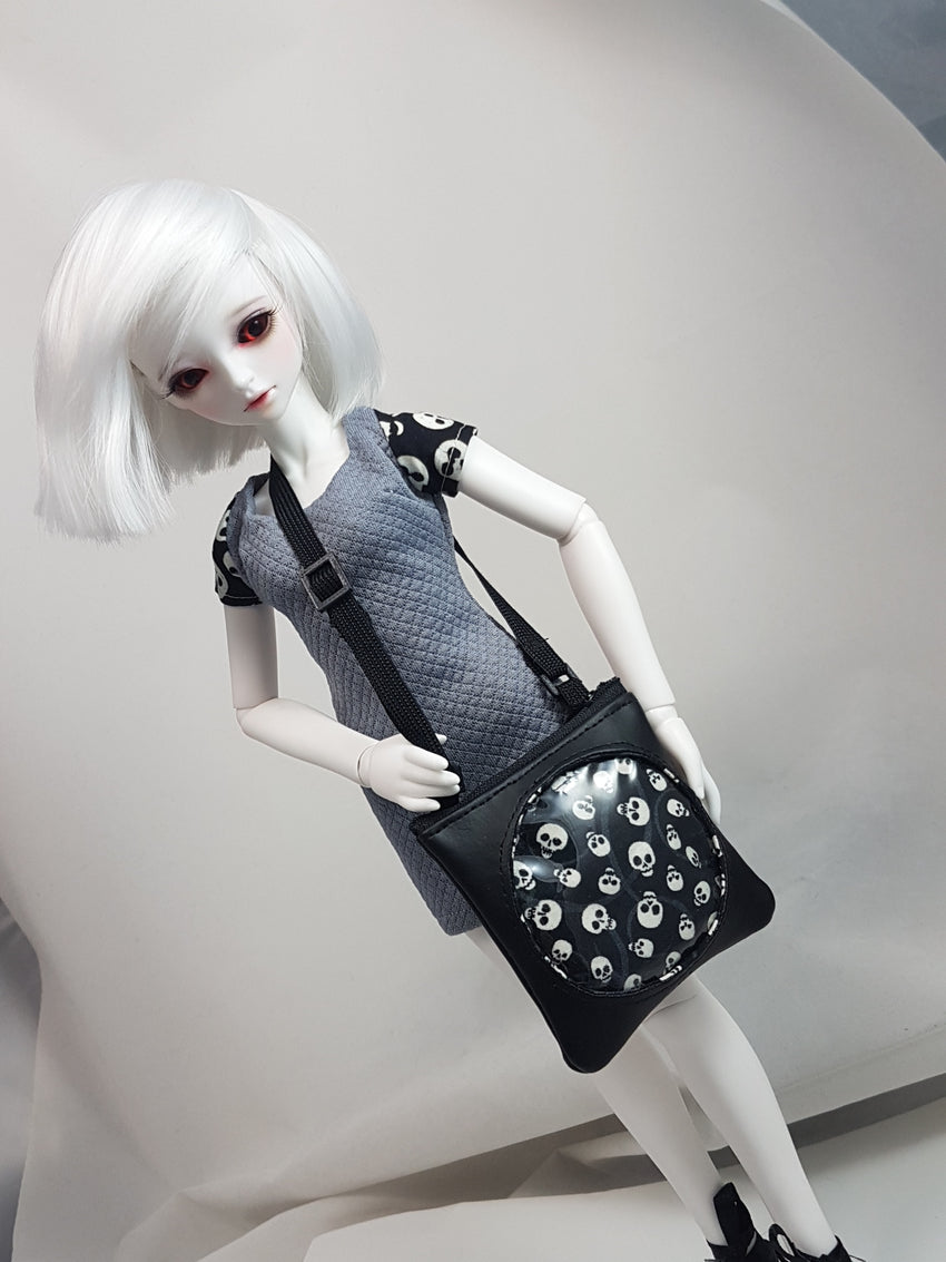 1:4 scale- Ita Bag Purse for BJD (for Doll) - Skulls