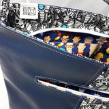 peek inside Cybermen Purse and see Doctor who fabric
