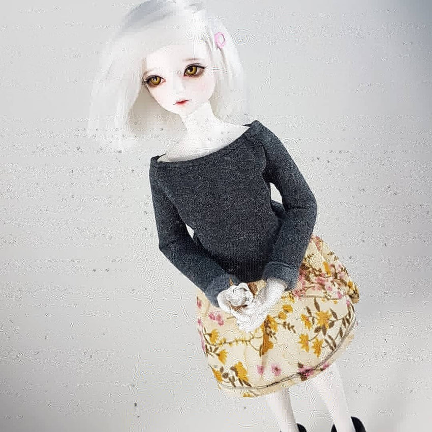 Warm toned dress for MSD ball jointed dolls
