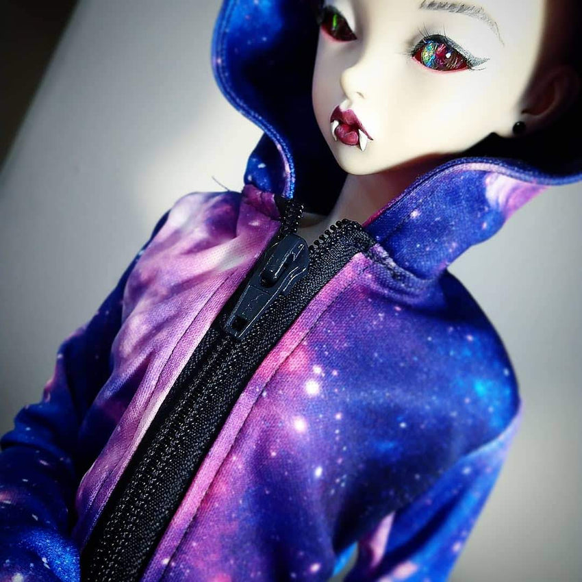 SD Zippered Hoodie - Galaxy- multiple colours