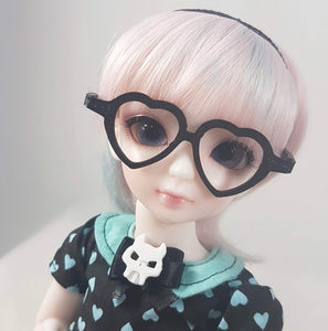 BJD Large YOSD Heart Glasses