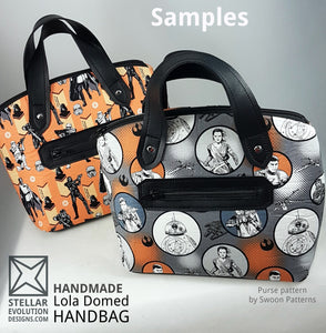 customized lola domed handbag samples