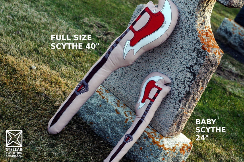 Plush scythe replicas-two sizes available-buffy the vampire slayer cosplays-vampyre
