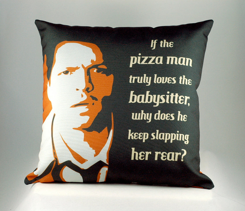 Custom Castiel Pizza Man quote Throw Pillow-Supernatural Funny