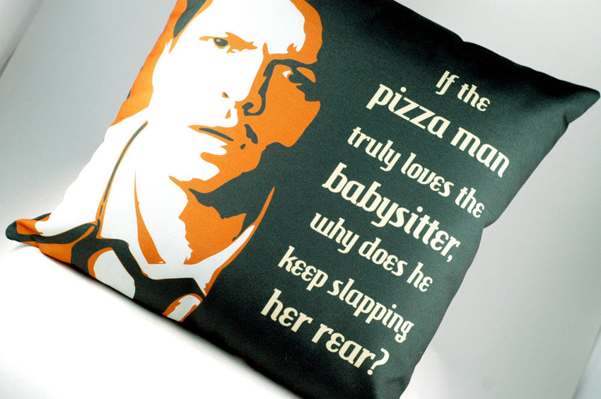 Custom Castiel Pizza Man quote Throw Pillow for Supernatural Fans