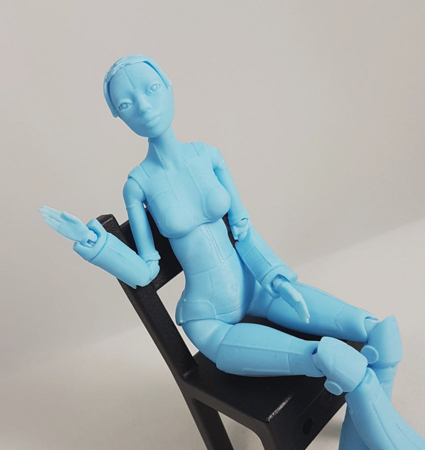 Robotica-Resin Printed 20cm tall Ball Jointed Doll-Blue
