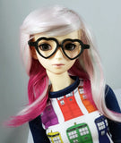 black heart shaped doll glasses for ball jointed dolls one third scale