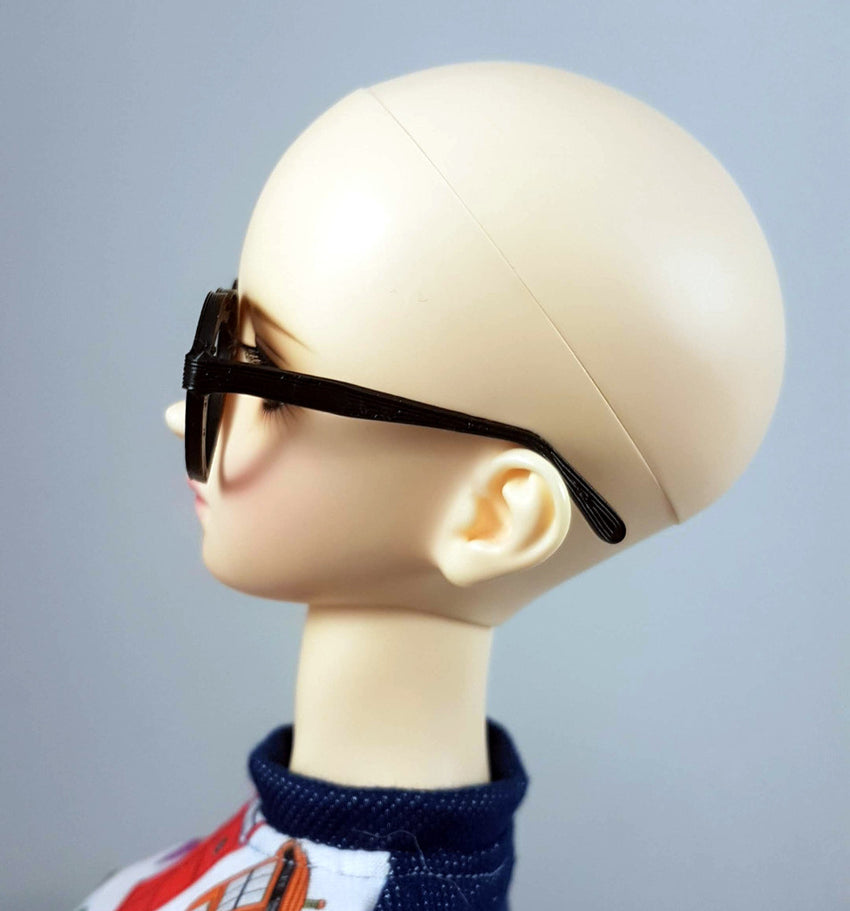 BJD SD Heart Glasses