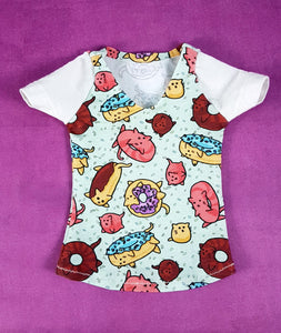 SD Short Sleeve T-Shirt - Cat Donuts